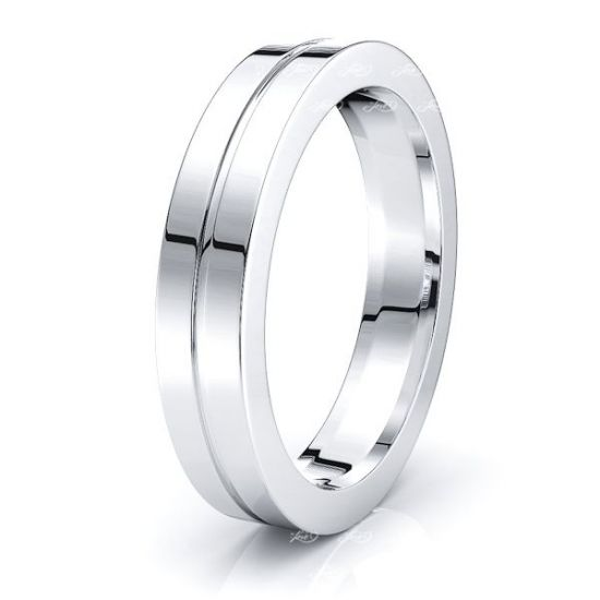 Paloma Solid 4mm Mens Wedding Ring