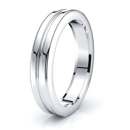 Leon Solid 4mm Mens Wedding Band