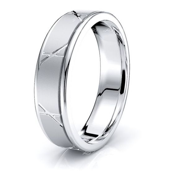 Talia Solid 6mm Mens Wedding Ring