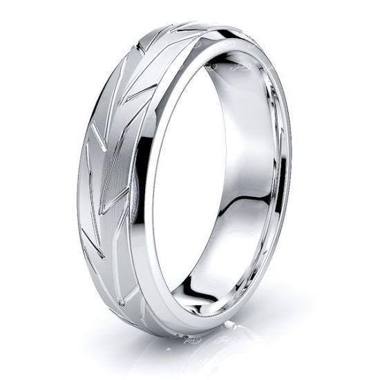 Laurel Solid 6mm Mens Wedding Ring