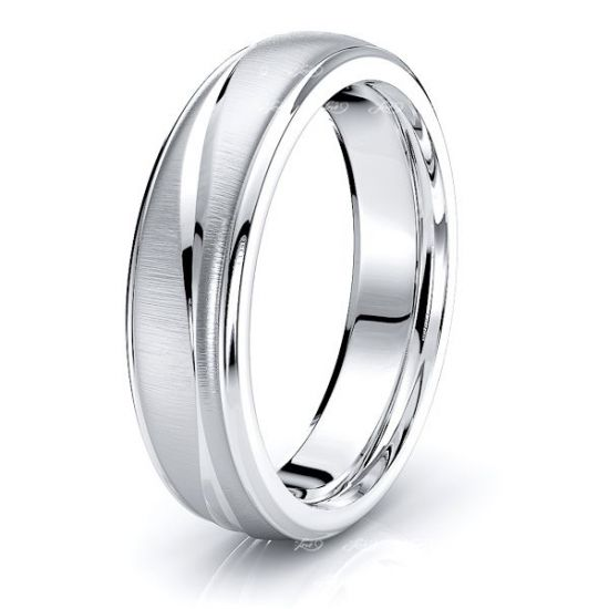 Mark Solid 6mm Wave Mens Wedding Ring