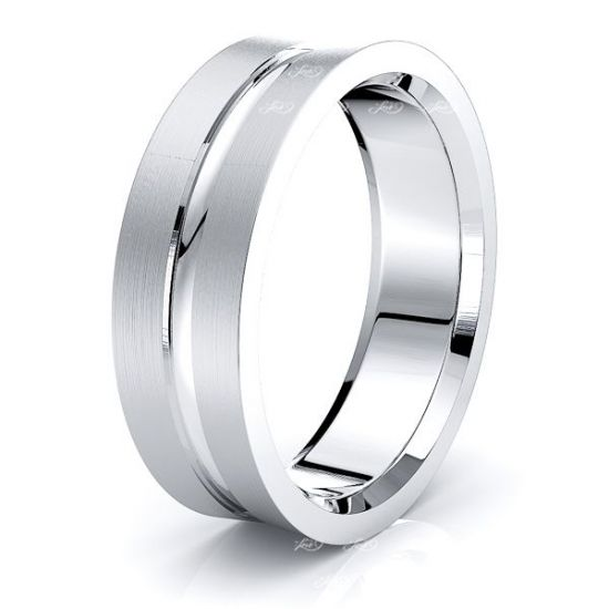 French Solid 7mm Mens Wedding Band