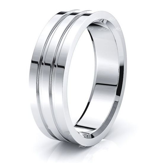 Crispin Solid 7mm Mens Wedding Band