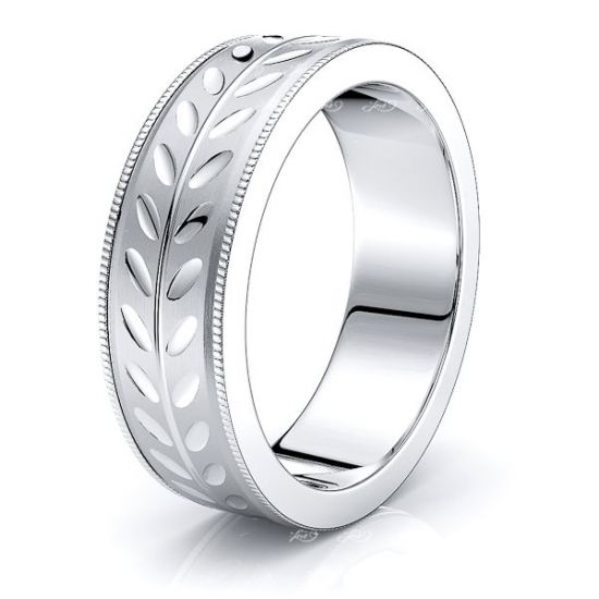 Matteo Solid 7mm Mens Wedding Band
