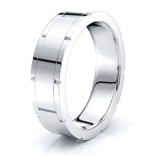 Maia Solid 7mm Mens Wedding Ring