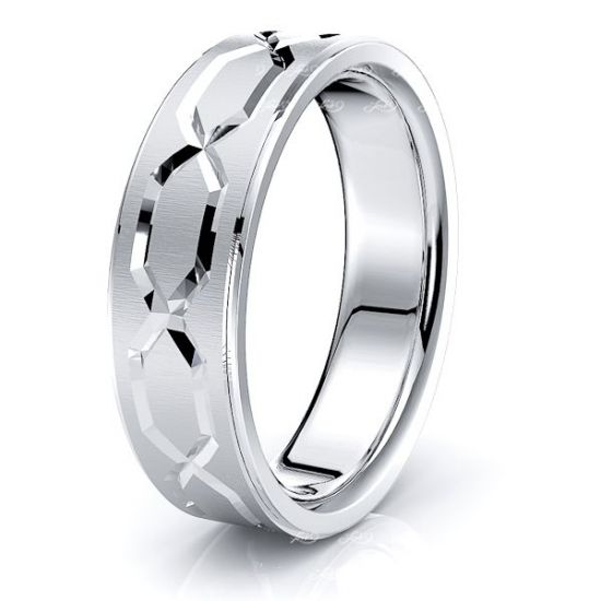 Solomon Solid 7mm Mens Wedding Ring