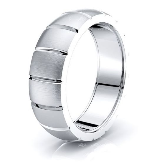 Ariana Solid 7mm Mens Wedding Ring