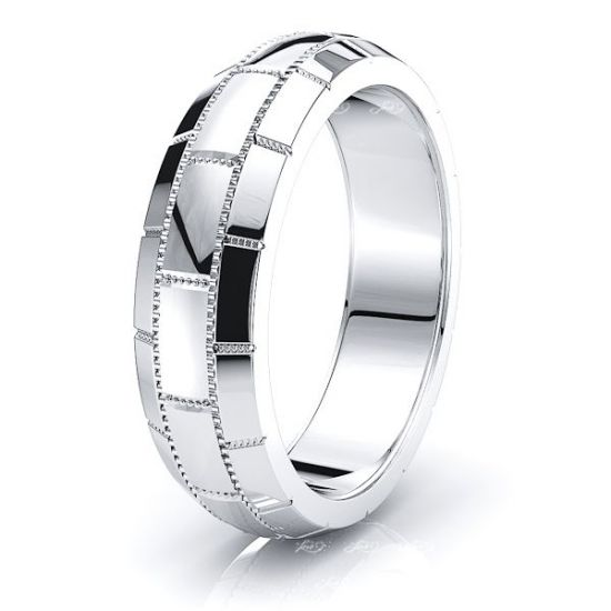 Tucker Solid Fancy Mens Wedding Band