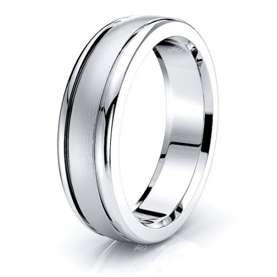 Asa Solid 6mm Mens Wedding Ring