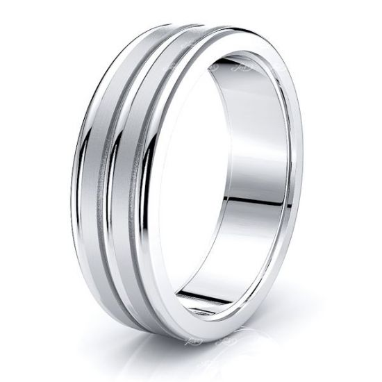 Jezebel Solid 7mm Mens Wedding Band