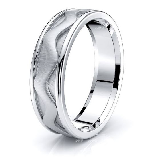 Agatha Solid 6mm Mens Wedding Ring