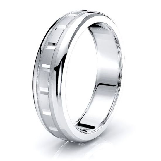 Lulu Solid 6mm Mens Wedding Ring