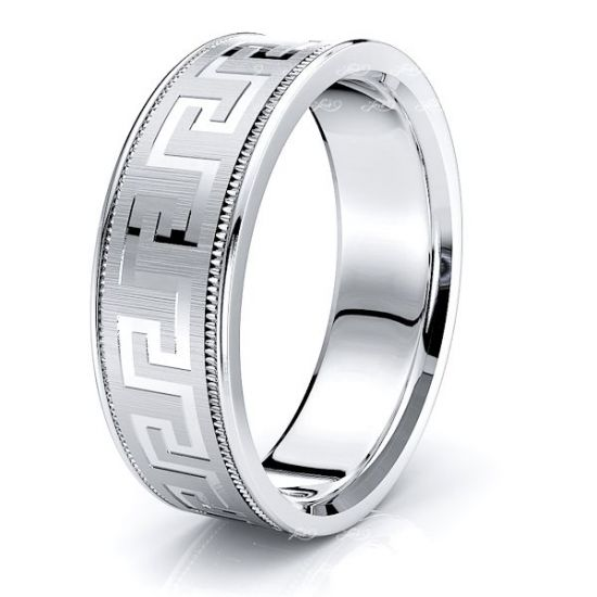 Natalia Solid 7mm Mens Wedding Band