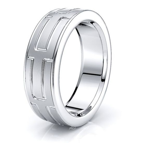 Brynn Solid 8mm Mens Wedding Ring