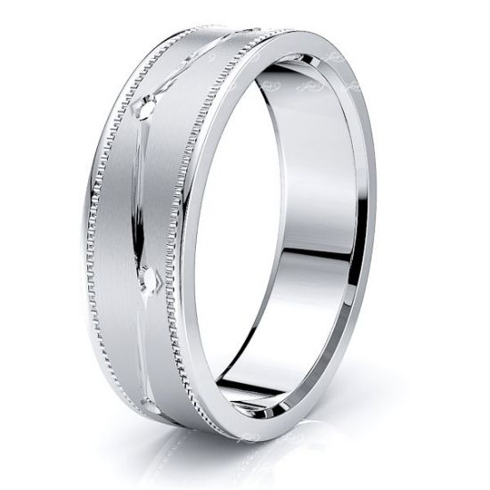 Sage Solid 7mm Mens Wedding Band