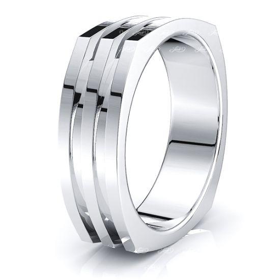 Lev Solid 7.5mm Mens Wedding Ring