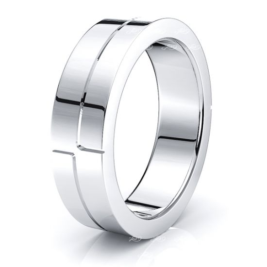 Lysander Solid 6mm Mens Wedding Band