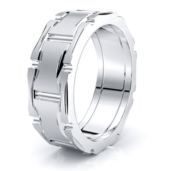 Senna Solid 8mm Mens Wedding Ring