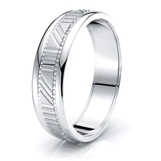 Valerie Solid 6mm Mens Wedding Band