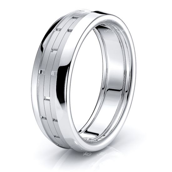 Clio Solid 7mm Mens Wedding Ring