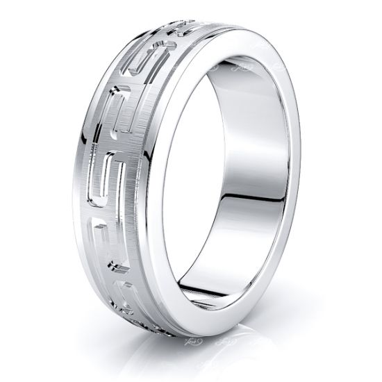 Julius Solid 7mm Mens Wedding Band