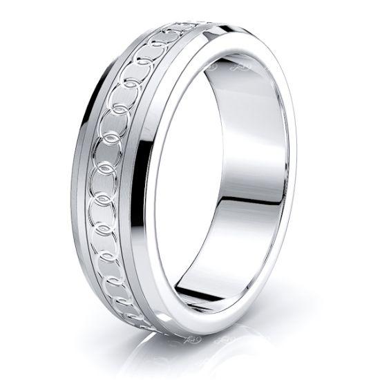 Avalon Solid 7mm Mens Wedding Ring