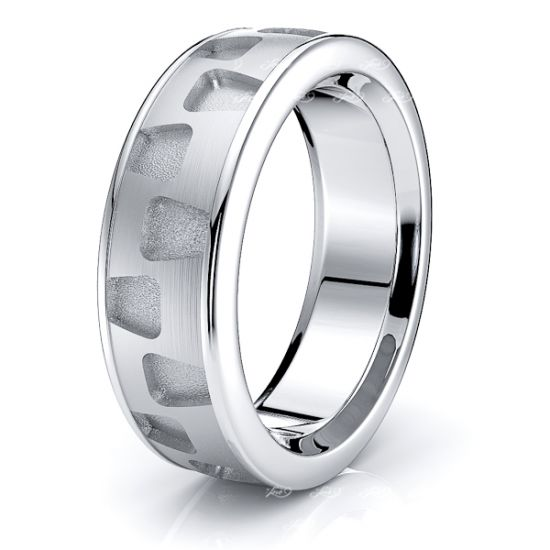 Mira Solid 7mm Mens Wedding Band