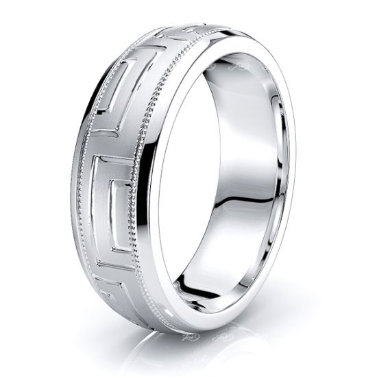 Solid 7mm Infinite Mens Wedding Ring
