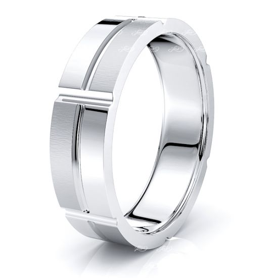 Norah Solid 7mm Mens Wedding Band