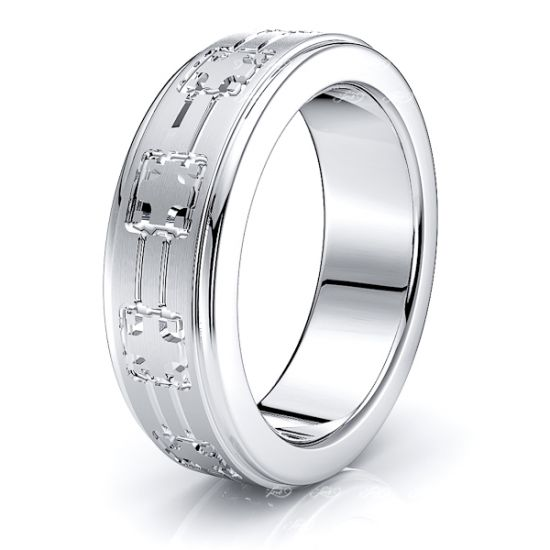 Lauren Solid 7mm Mens Wedding Ring