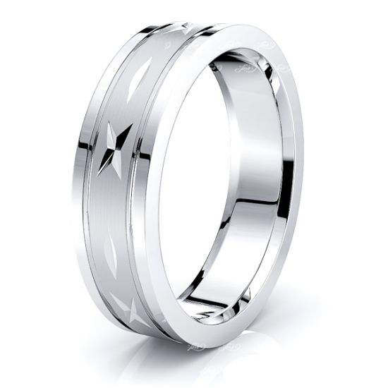 Ace Solid 6mm Heart Mens Wedding Ring