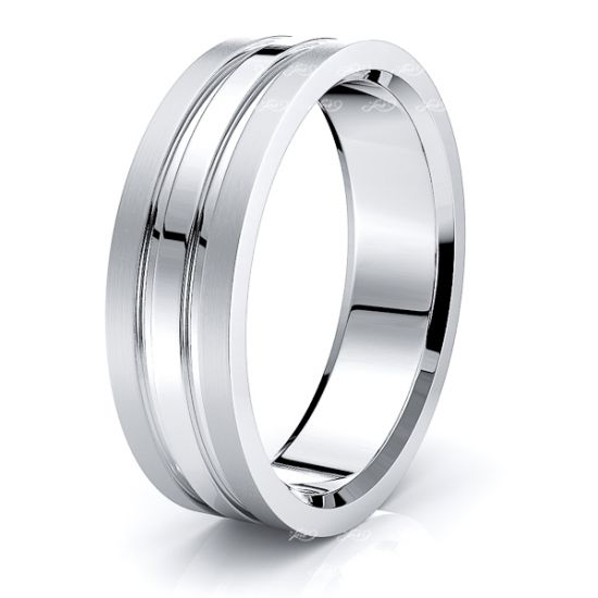 Birdie Solid 7mm Mens Wedding Ring