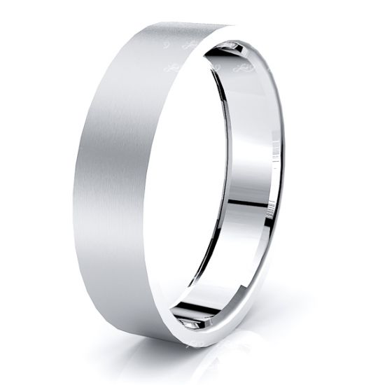 Aster Solid 6mm Mens Wedding Ring