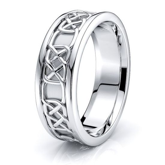 Aife Celtic Knot Mens Wedding Band