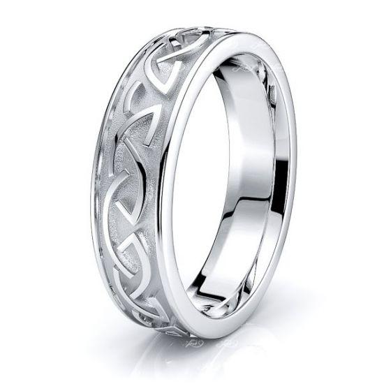 Fiona Celtic Knot Mens Wedding Ring
