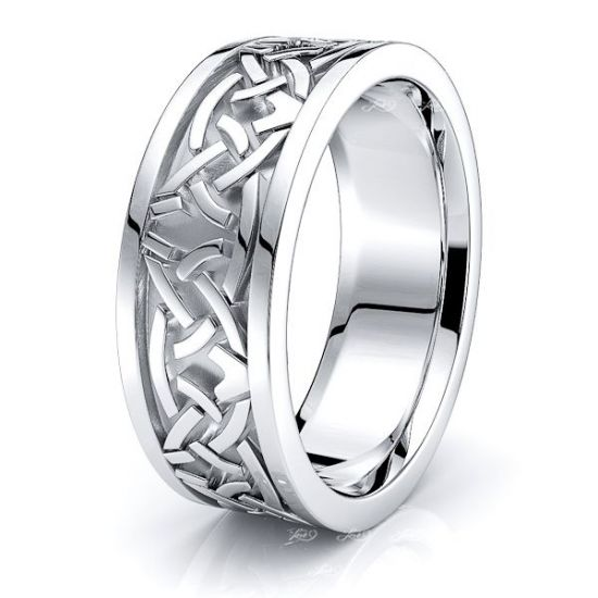 Colin Celtic Knot Mens Wedding Band