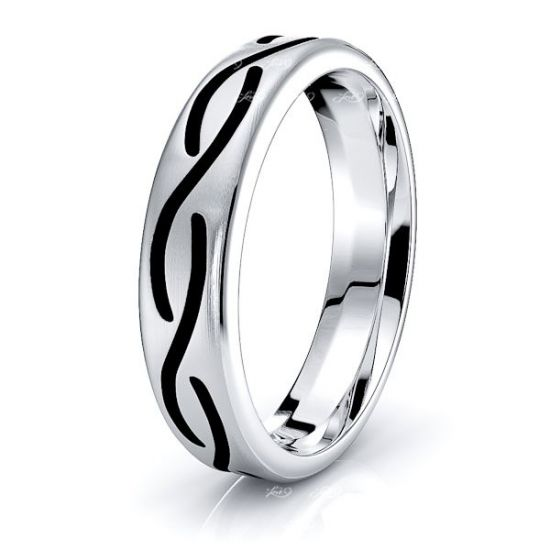 Coney Mens Celtic Wedding Ring