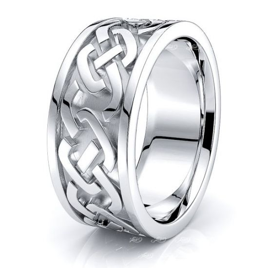 Davin Mens Celtic Wedding Band
