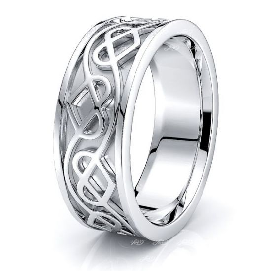 Arianrhod Celtic Heart Mens Wedding Ring