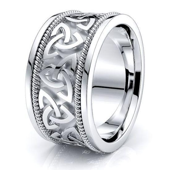 Enya Trinity Knot Mens Celtic Wedding Ring