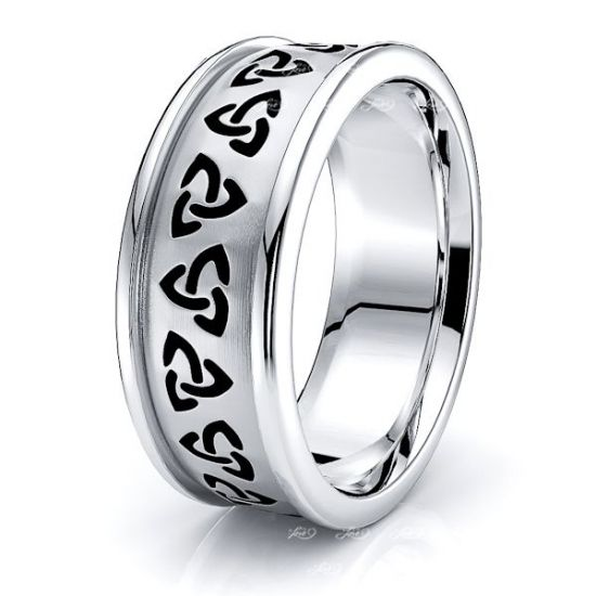 Brianna Trinity Knot Mens Celtic Wedding Band