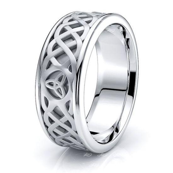 Agrona Trinity Knot Mens Celtic Wedding Ring