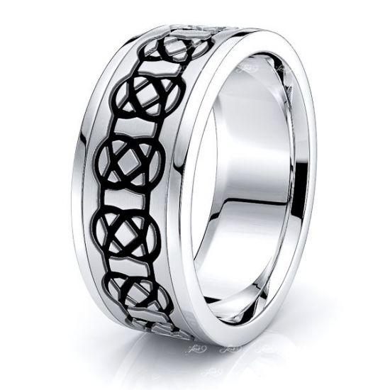 Aeslin Mens Celtic Wedding Band