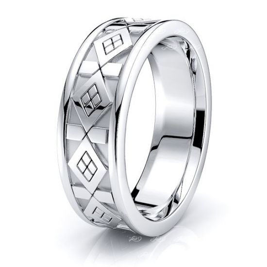 Daren Celtic Knot Mens Wedding Ring