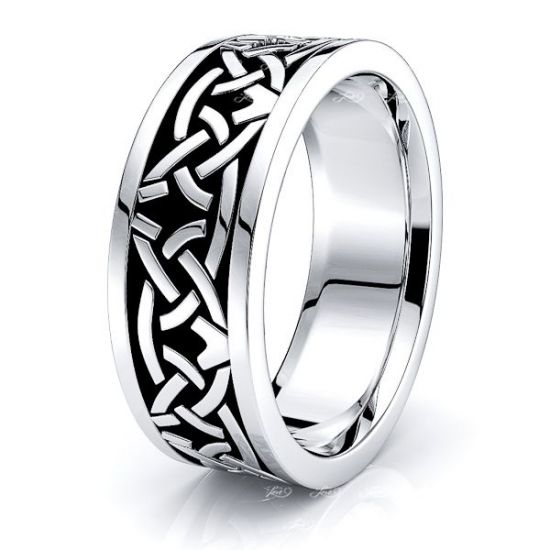 Riley Celtic Knot Mens Wedding Ring