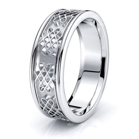 Kyna Celtic Knot Mens Wedding Ring