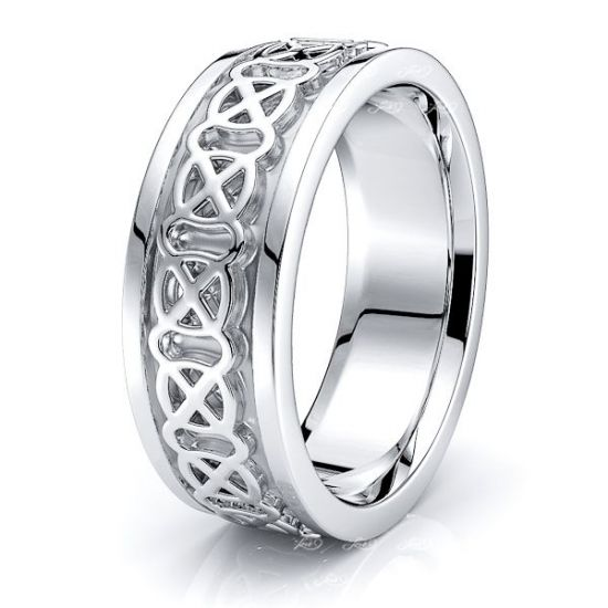 Lore Celtic Knot Mens Wedding Ring
