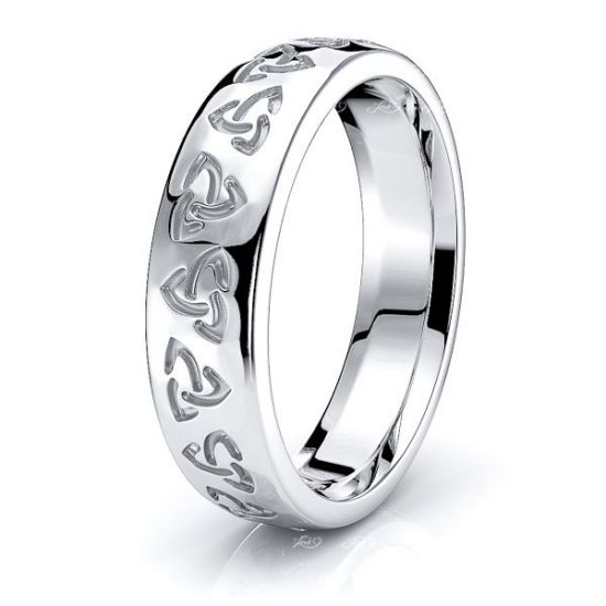Aithne Trinity Knot Mens Celtic Wedding Ring
