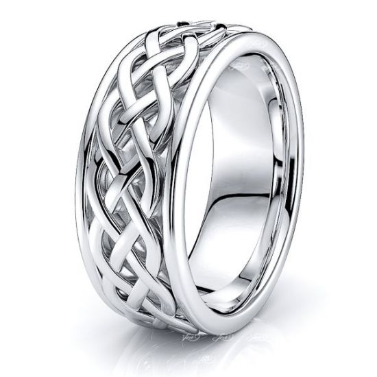 Alroy Celtic Knot Mens Wedding Ring