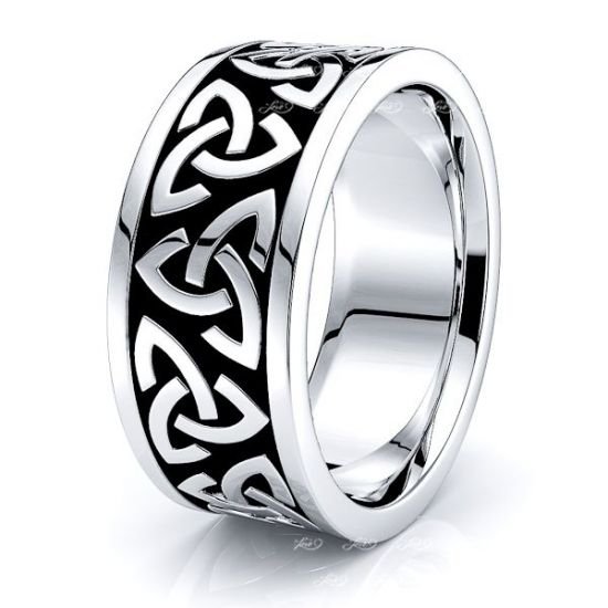 Ryan Trinity Knot Mens Celtic Wedding Band